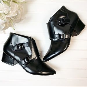 French Connection Roree Pointed Buckle booties